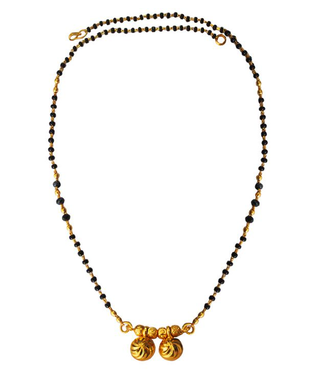 Pihu Black and Golden Mangalsutra