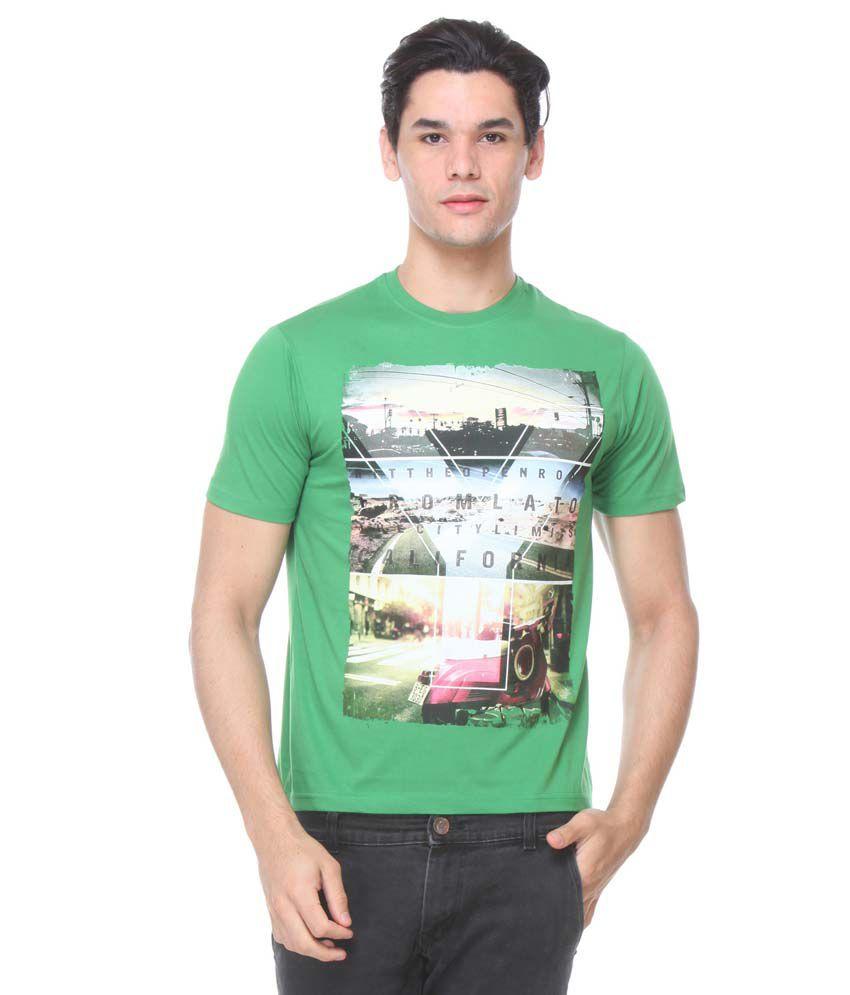 TAB91 Green Round T Shirts