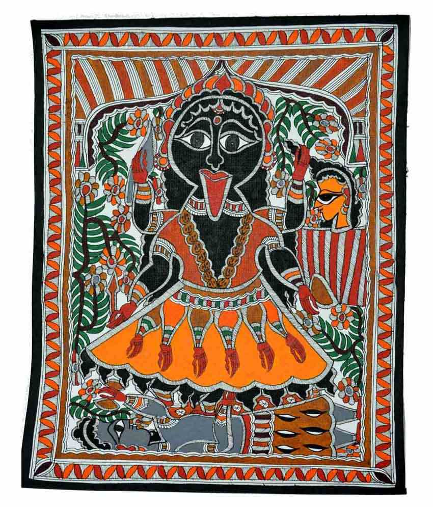 Craftuno Multicolour Goddess Kali Painting