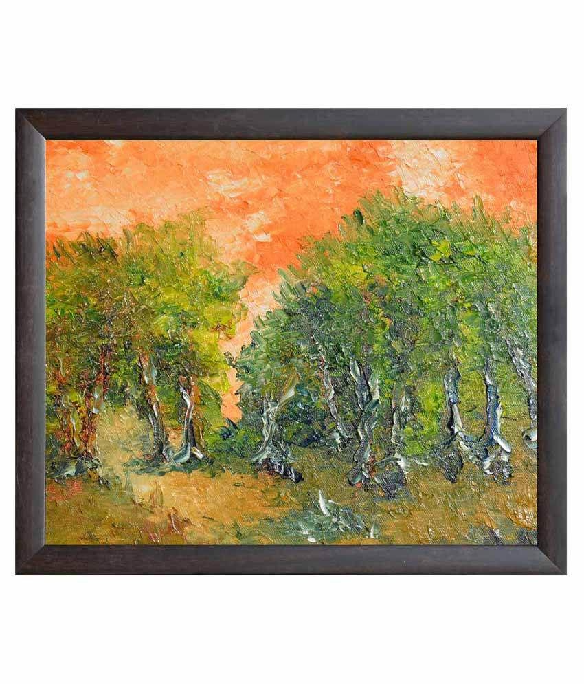 Craftuno Multicolour Oil Painting