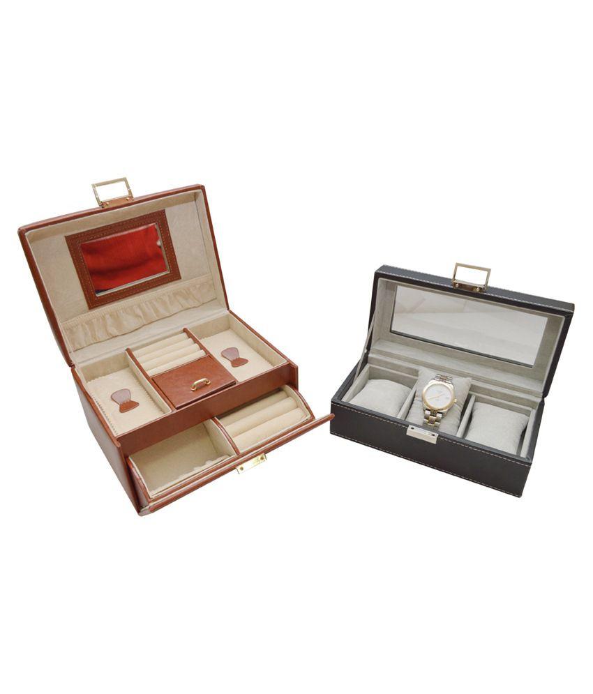 742c75c35cb Knott Brown Jewellery Box With Watch Box  Buy Knott Brown Jewellery ...