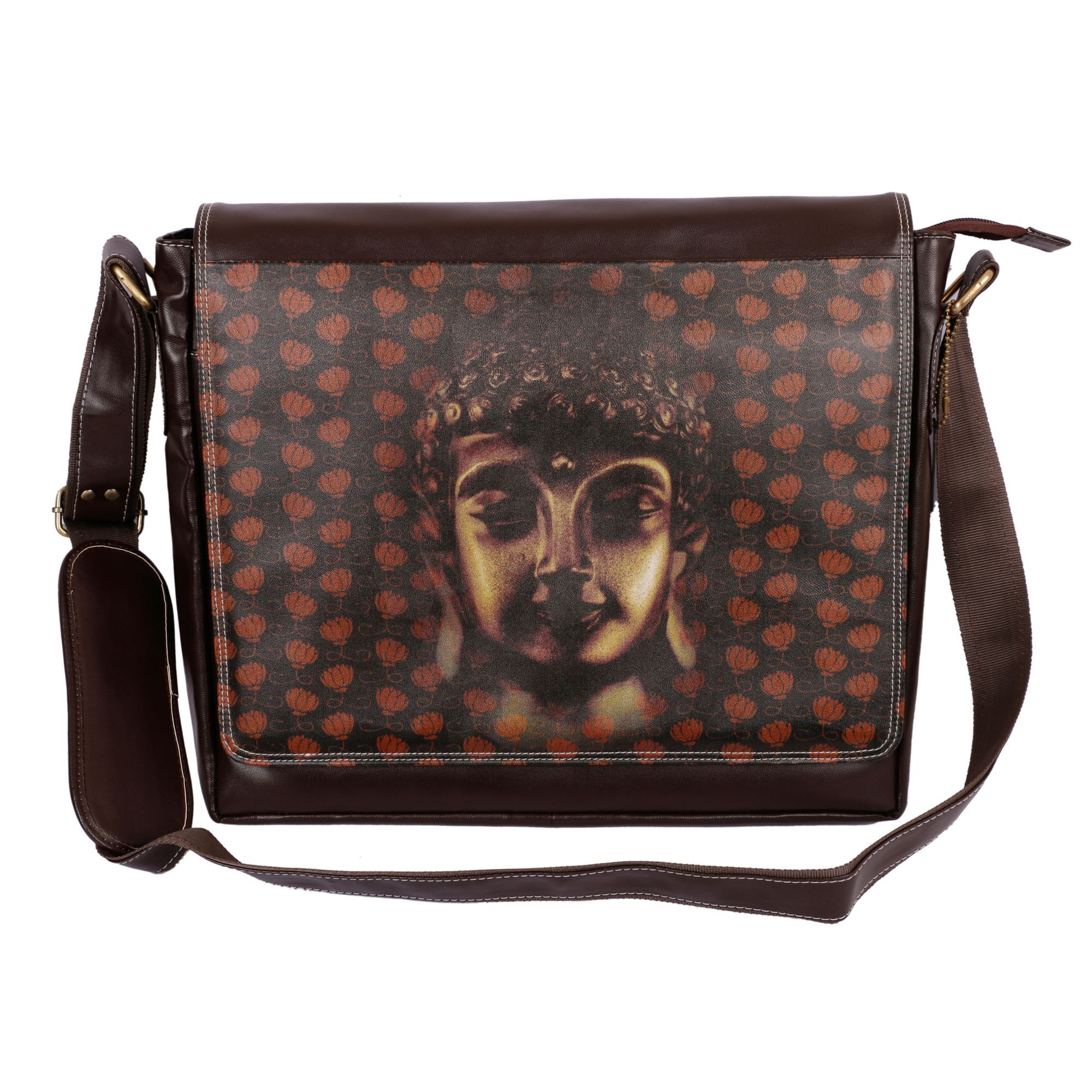 Made in India Brown PU Laptop Bag