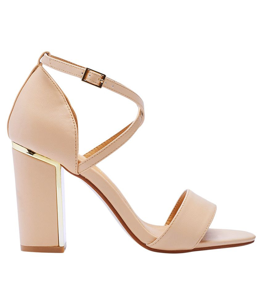 fdd4e073d11 Truffle Collection Beige Block Heels