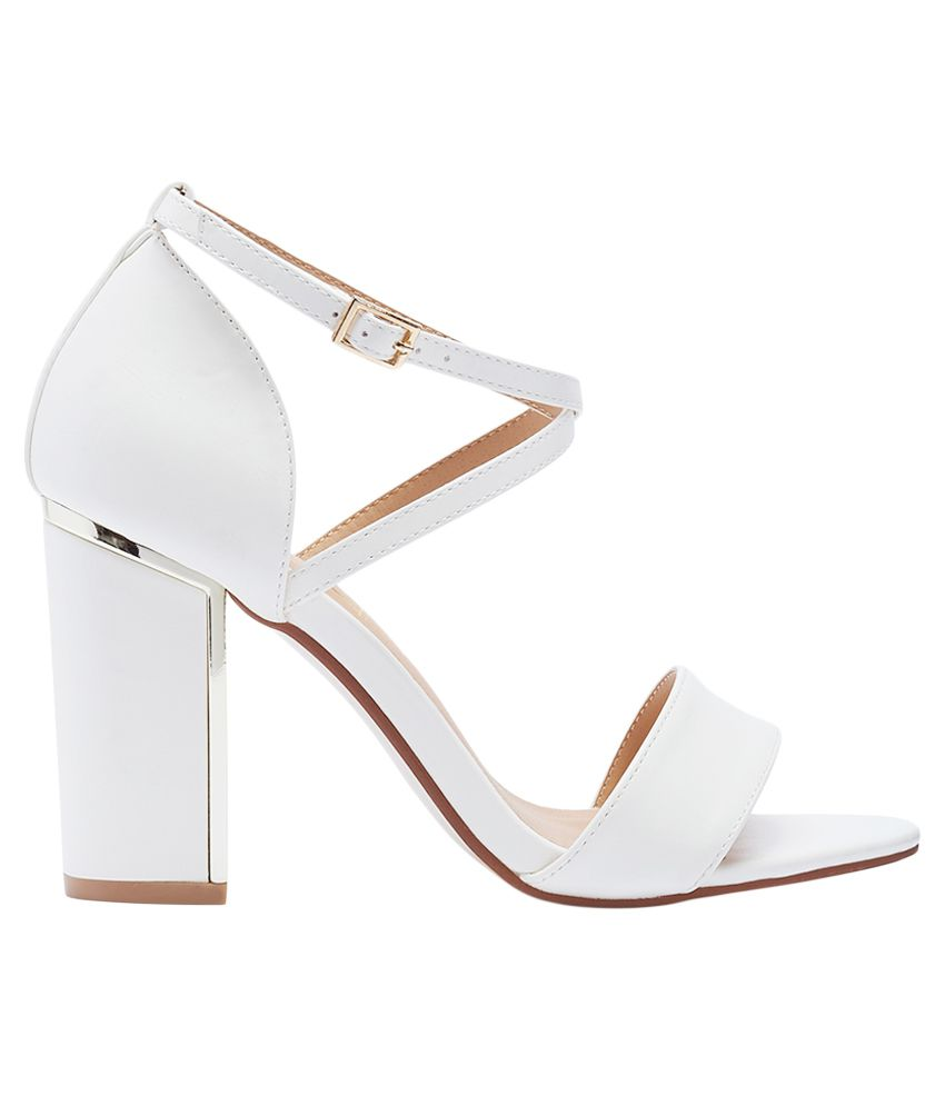 dd72064288 Truffle Collection White Block Heels Truffle Collection White Block Heels  ...
