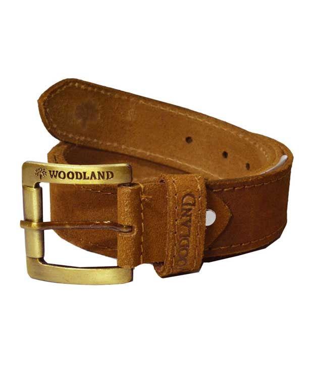 Woodland Brown Leather Belt For Men: Buy Online at Low ...