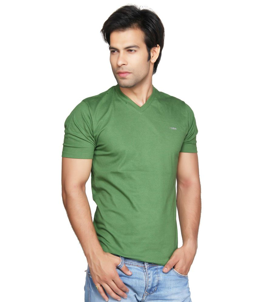 Clifton Fitness Men's V-Neck T-shirt -Tree Top Green