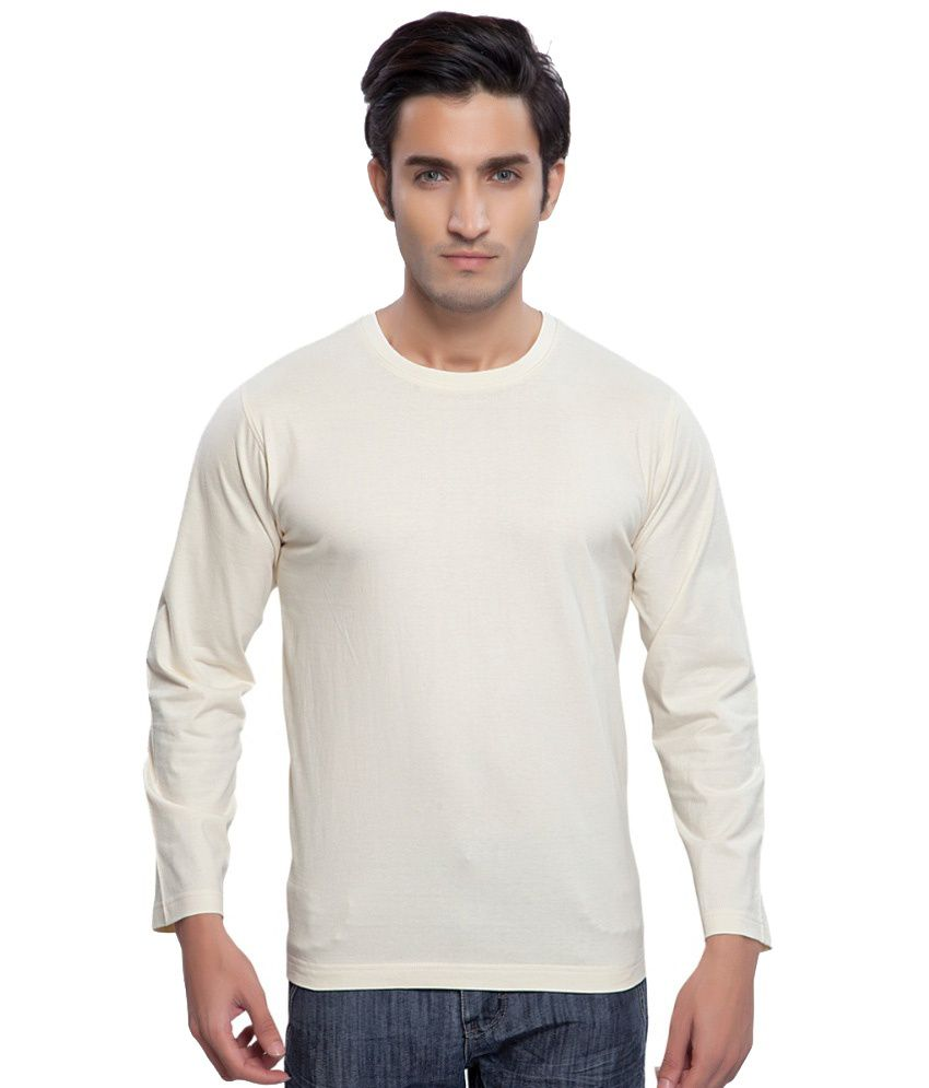 Clifton Fitness Men's Mustee Full Sleeve -Off White