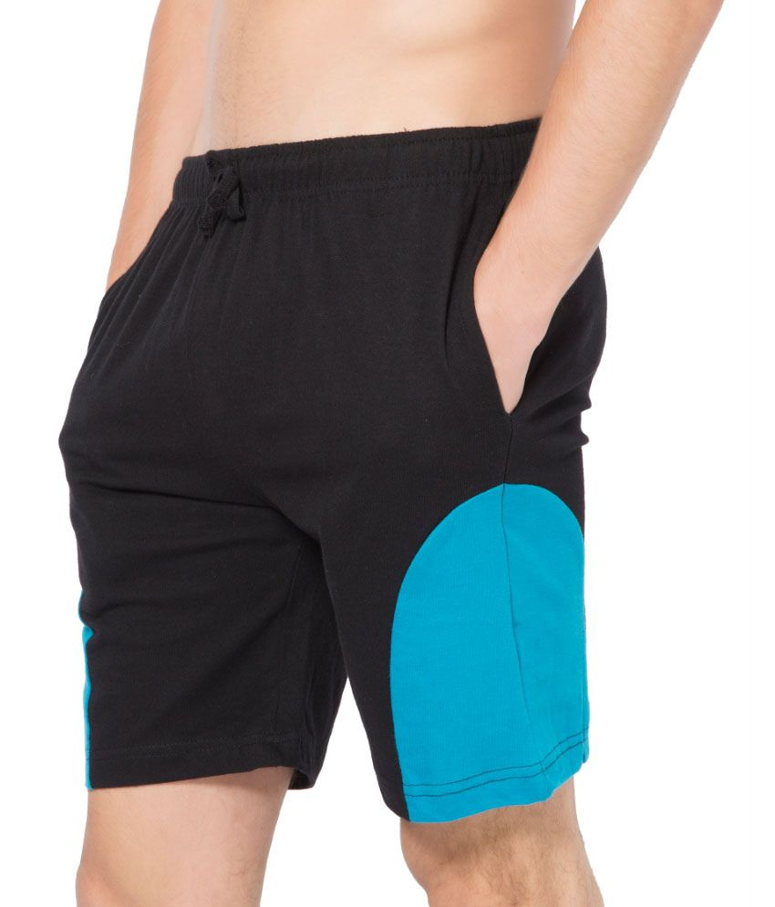 Clifton Fitness Men's Shorts -Black-Dark Blue