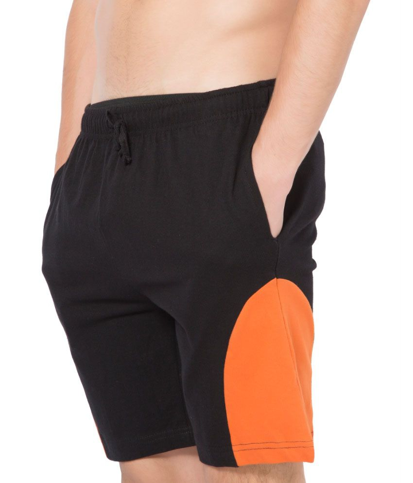 Clifton Fitness Men's Shorts -Black-Rust
