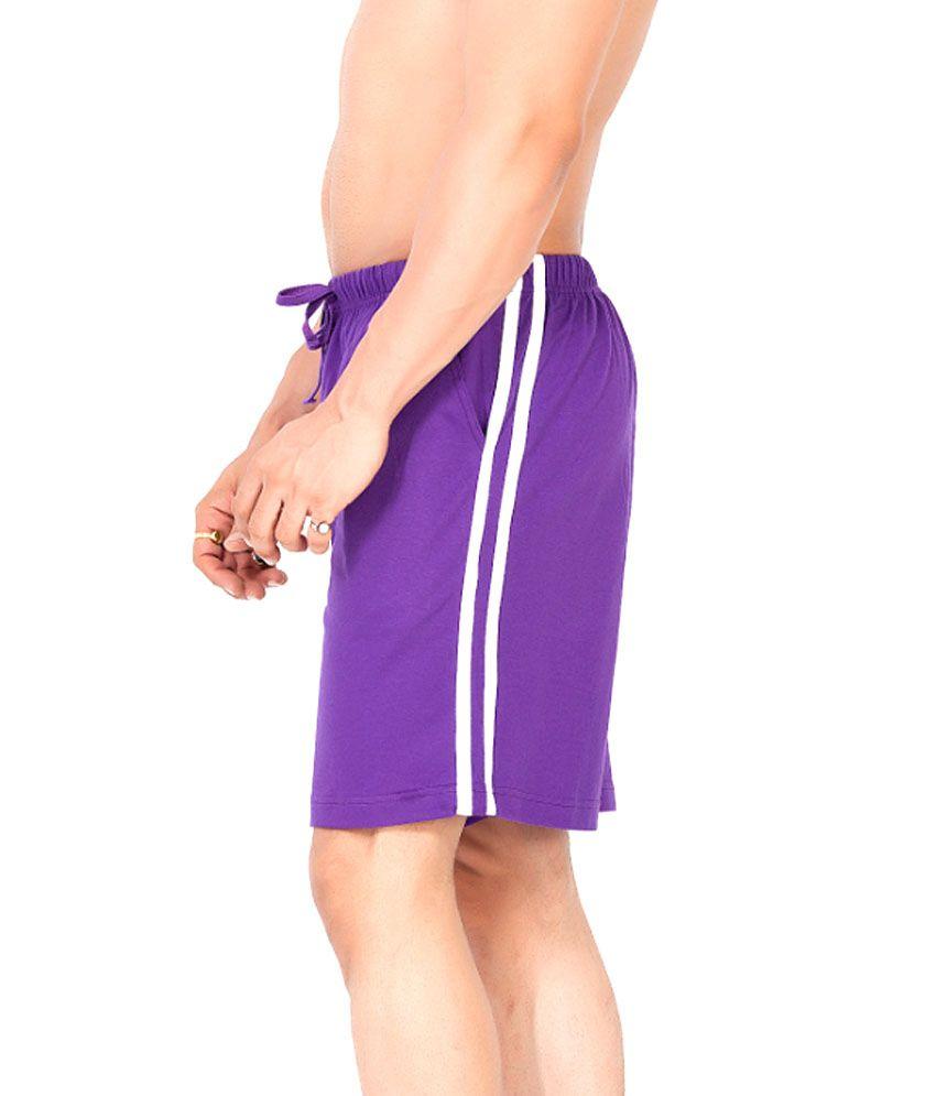 Clifton Fitness Men's Shorts -Purple