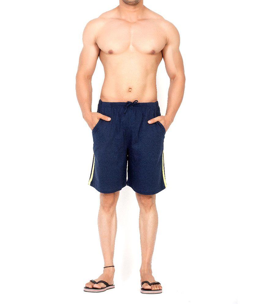 Clifton Fitness Men's Shorts Stripes -Navy Melange/Black
