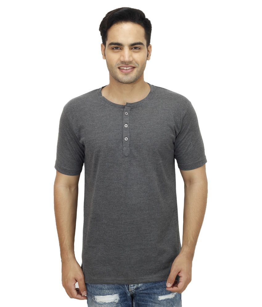 Candy House Grey Henley T Shirts Single