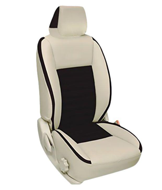 Elaxa Beige And Black Car Seat Cover For Maruti Suzuki