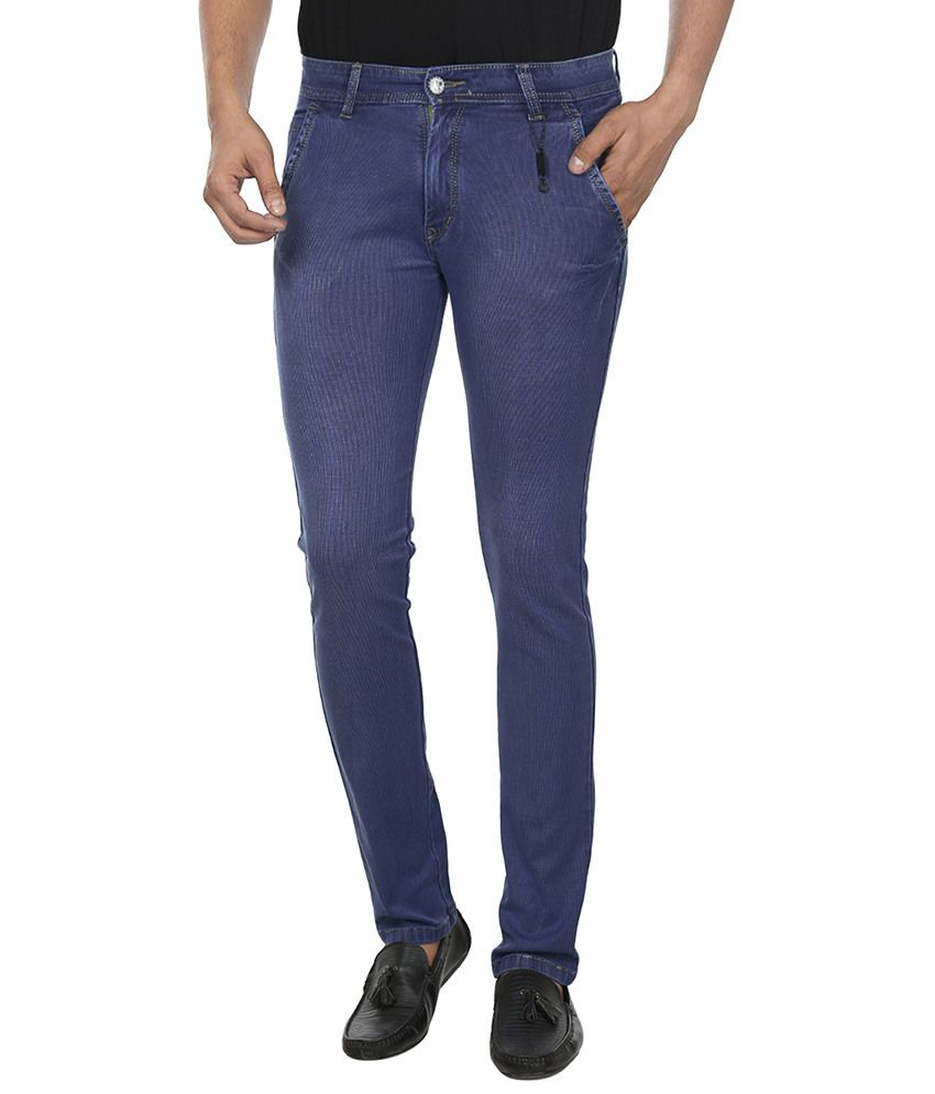 dbc89e8a694 FLU Blue Slim Fit Jeans - Buy FLU Blue Slim Fit Jeans Online at Best Prices  in India on Snapdeal