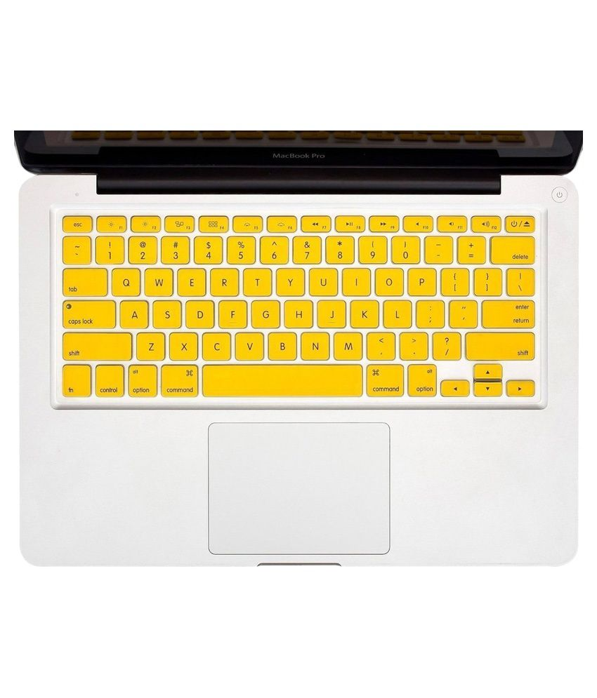 Heartly Keyboard Crystal Skin Protector For MacBook Yellow