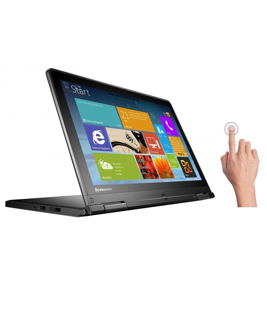 Lenovo Thinkpad Yoga (20CDA01GIG) (4th Gen i5 4200U-4GB RAM-1 TB HDD+16 GB mSSD-31.75cm (12.5)es HD Display with Touch-Win 8) (Black)