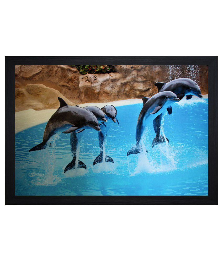 SAF Animal Painting with Wooden Frame