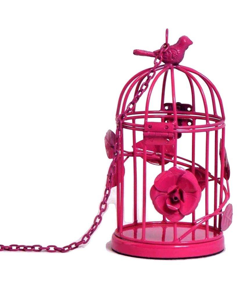 Deziworkz Pink Birdcage - Set of 2