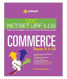 UGC NET/SET (JRF & LS) COMMERCE Paper II & III (Paperback) English Third Edition