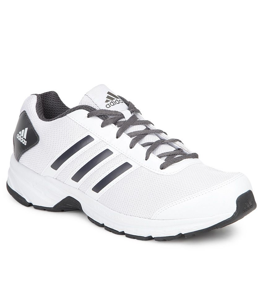 adidas white sports shoes