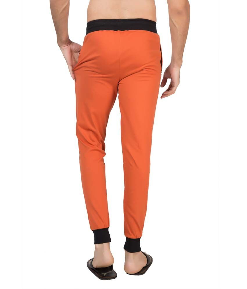 Clifton Fitness Men's Ribbed Slim Fit Track Pant -Rust