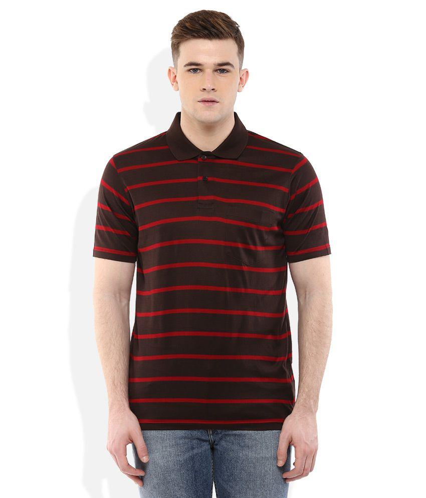 Proline Multi Colored Striped Polo T-Shirt
