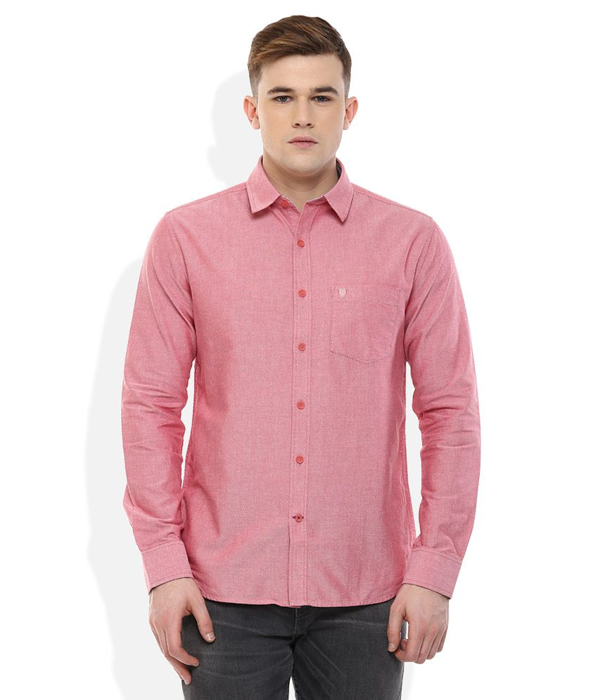 Proline Red Regular Fit Shirt