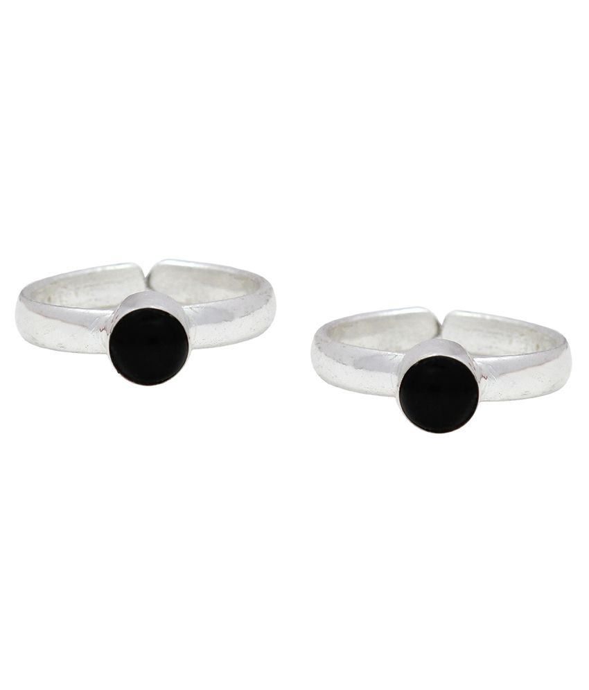 Ranvijay Black Designer Toe Rings