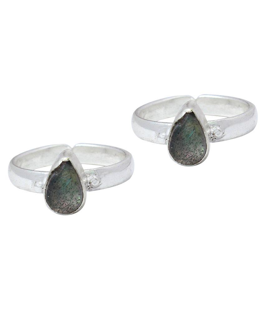 Ranvijay Gray Designer Toe Rings