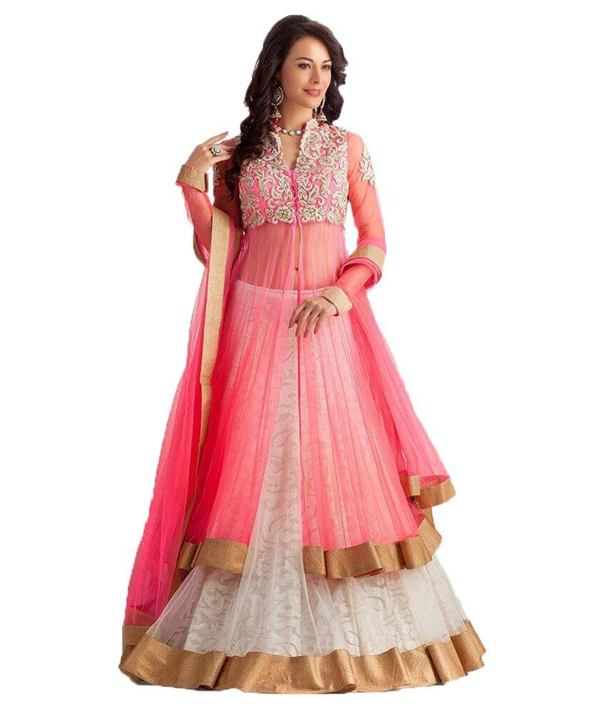 Greenvilla Designs White Net Lehenga Buy Greenvilla
