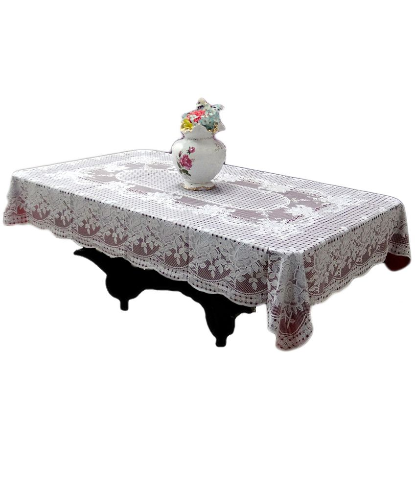 Katwa Clasic Pink and White PVC Table Cover