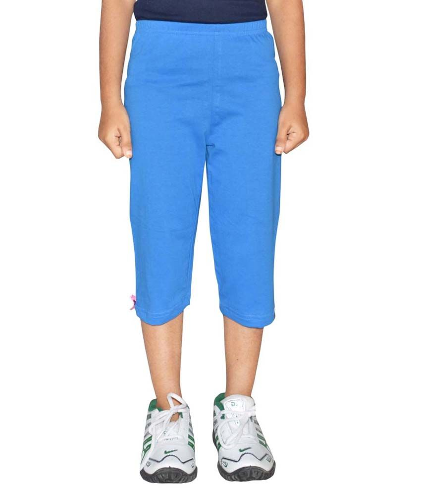 Metro Collections Blue Cotton Capris Pack of 3