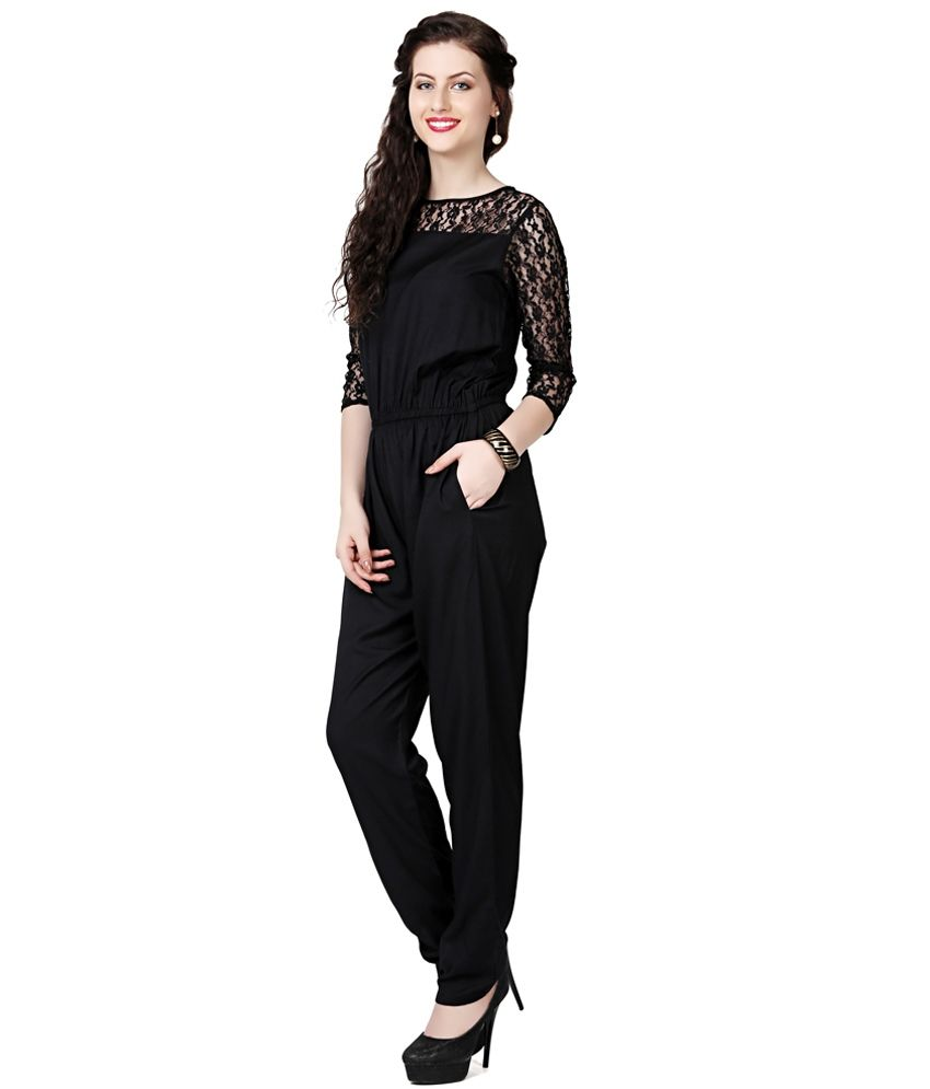 bf2104bf6f7d The Bebo Black Rayon Jumpsuits - Buy The Bebo Black Rayon Jumpsuits ...