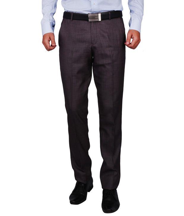 Dcode Green Slim Fit Flat Trousers
