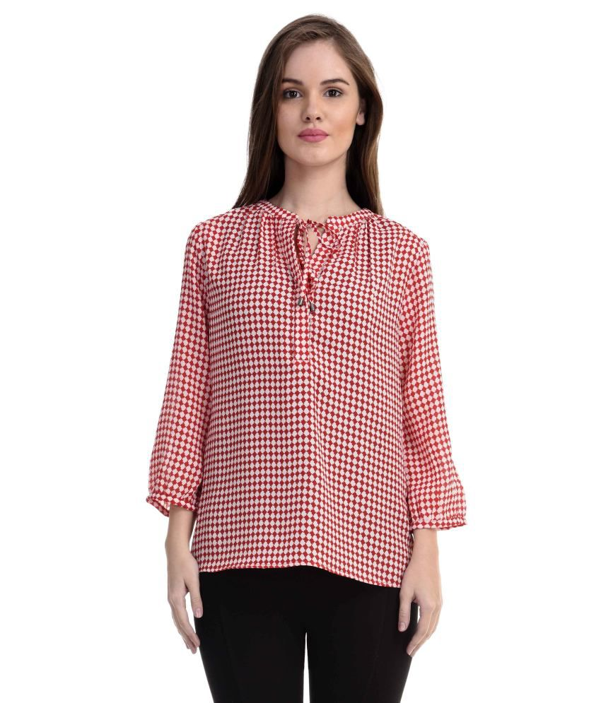 f017095d811 Antilia Femme Red Poly Georgette Tops - Buy Antilia Femme Red Poly Georgette  Tops Online at Best Prices in India on Snapdeal