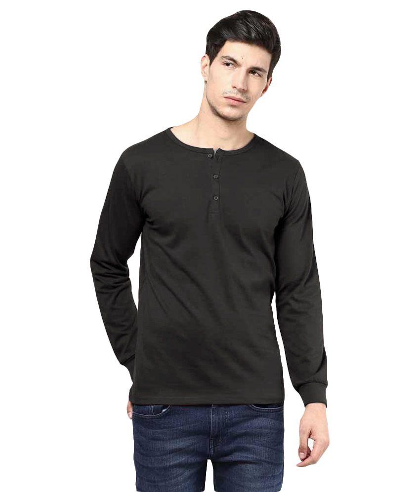 Garme Black Henley T Shirts