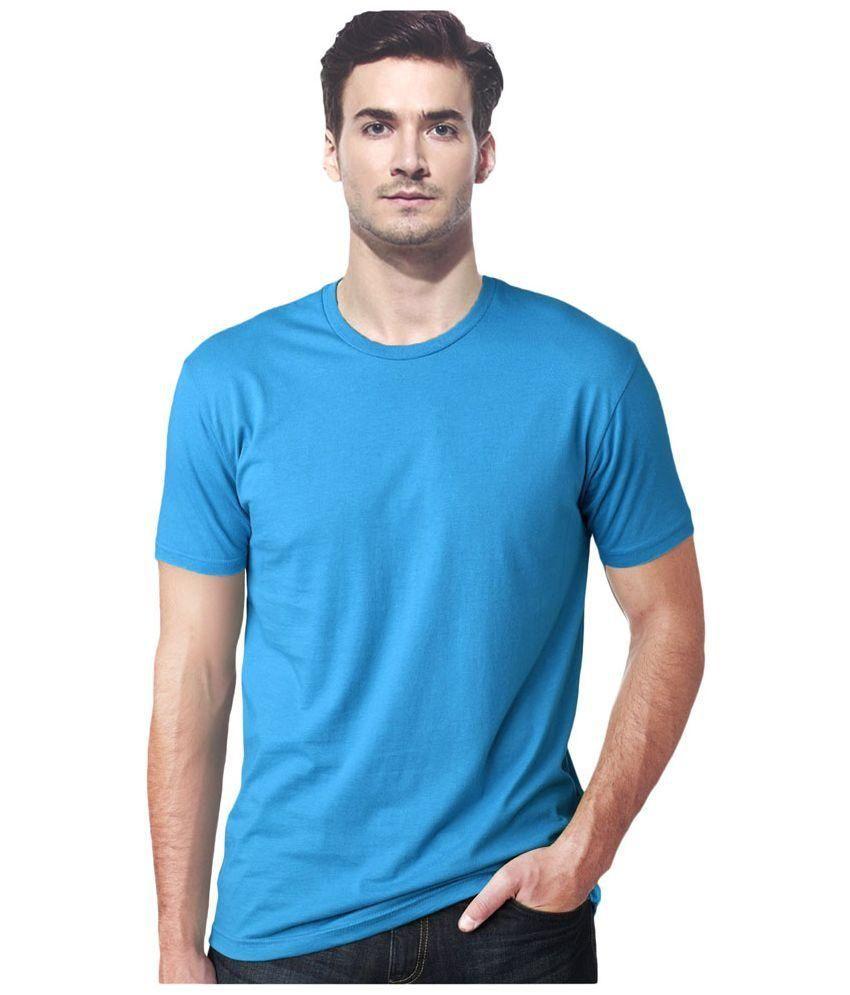 IK Blue Round T Shirts