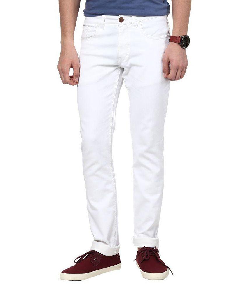 SuperX White Regular Fit Jeans