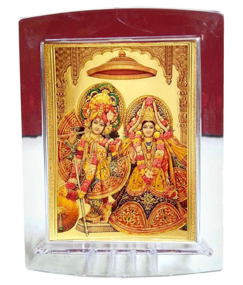 Gold Art 4 U Sri Radhe Krishna Painting