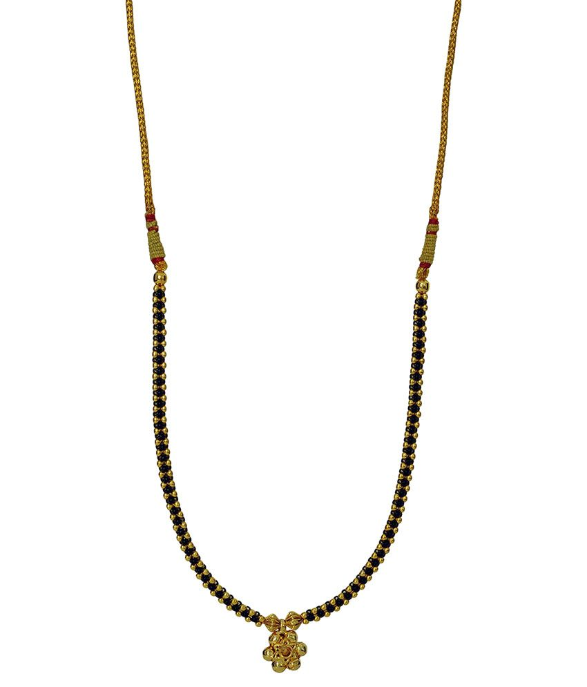 Womens Trendz Golden & Black Alloy Mangalsutra