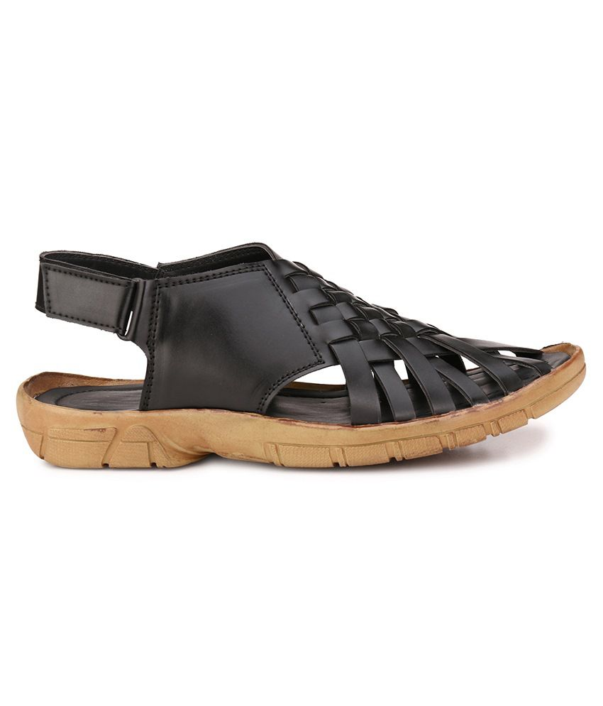 ea7bee50a004 Afrojack Black Sandals Price in India- Buy Afrojack Black Sandals ...