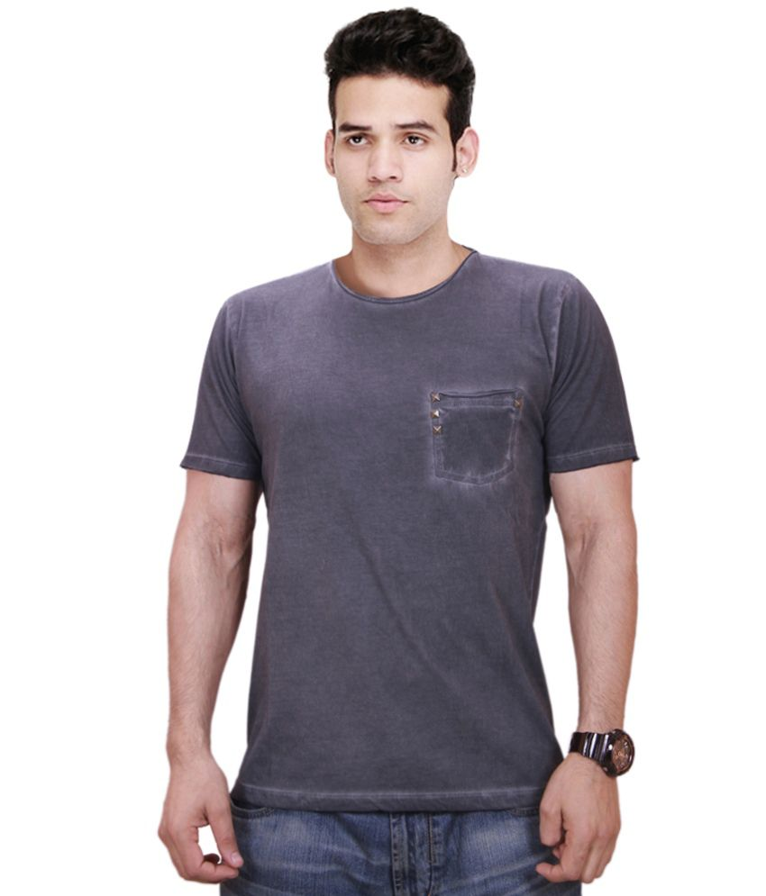 Qubic Grey Round T Shirts
