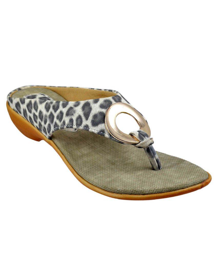 Sahebji Black Slippers & Flip Flops
