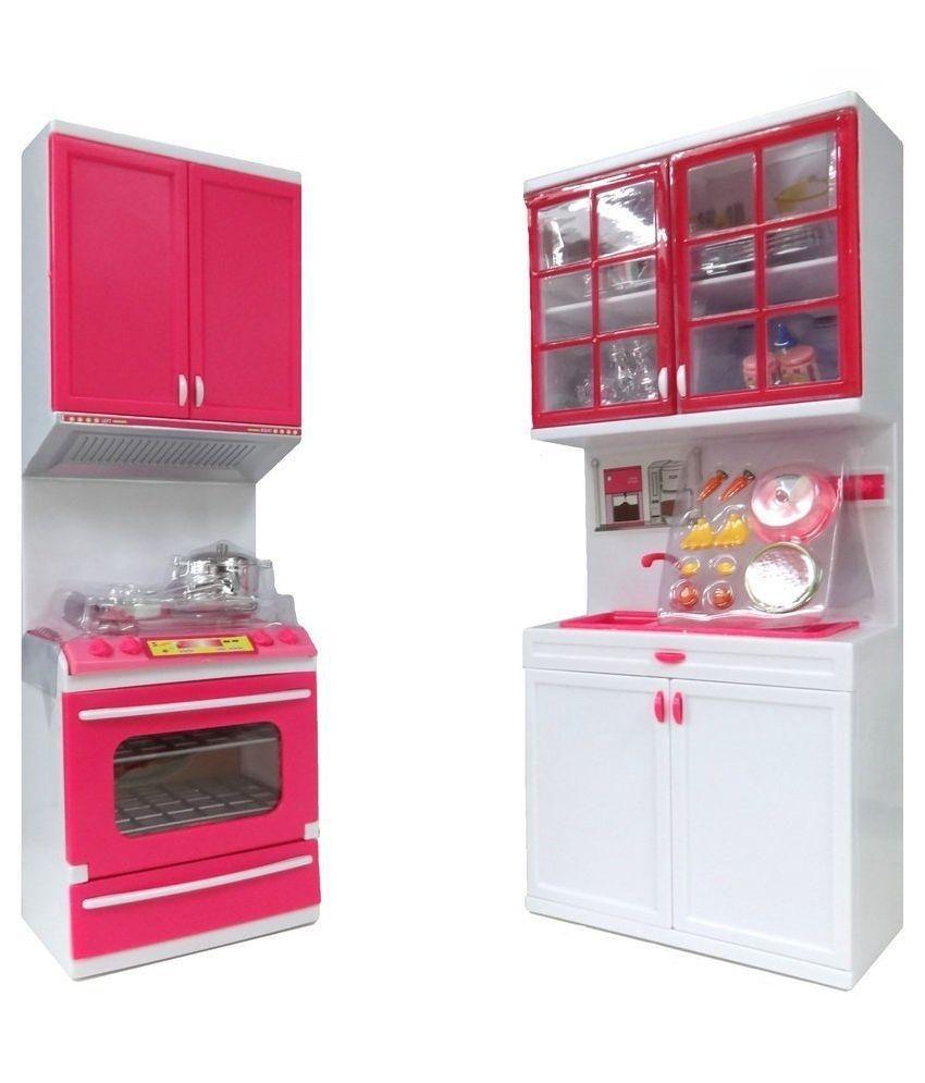 Kitchen Set Of Barbie: Shop & Shoppee Multicolour Barbie Beautiful Vogue Kitchen