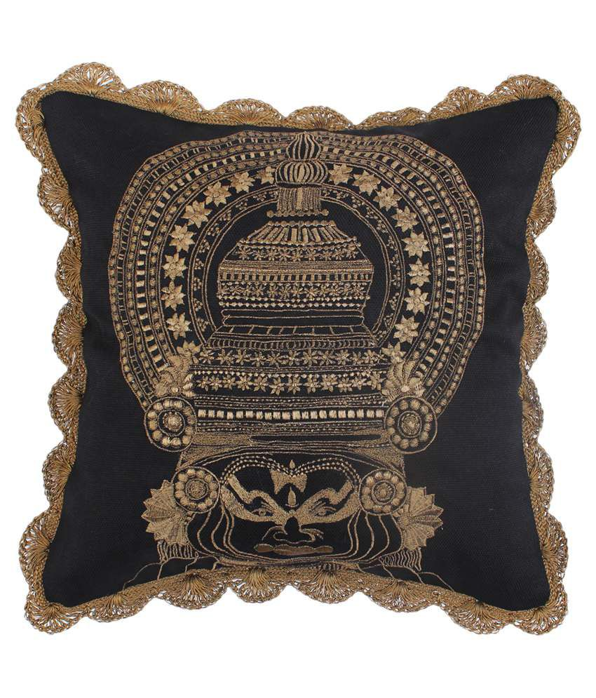 Bombay Mill Black Cushion Cover