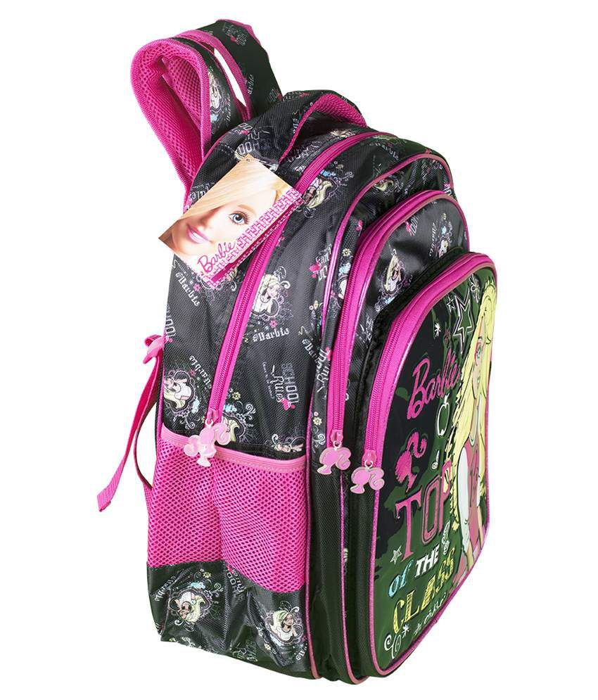 Barbie Black And Pink 18 Inch School Bag