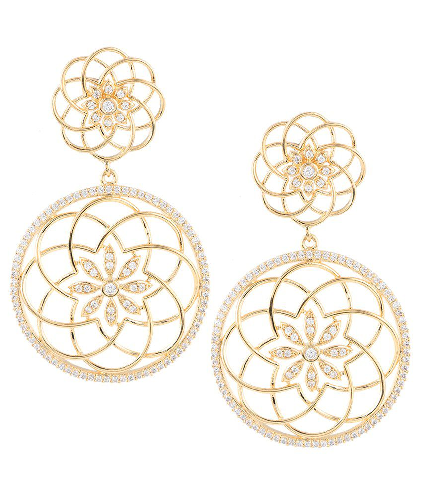 Beautiart Golden Alloy Drop Earrings