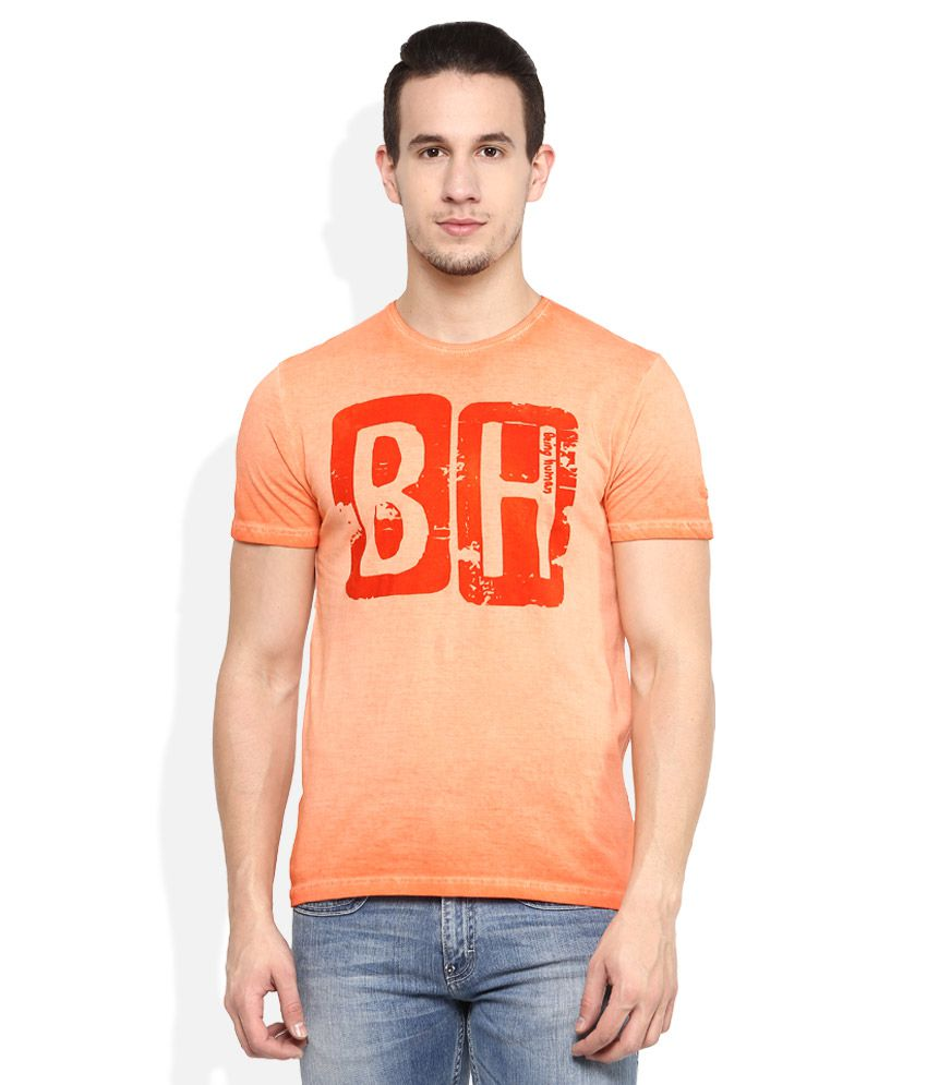 Being human orange round neck t shirt snapdeal price t for Being human t shirts buy online india