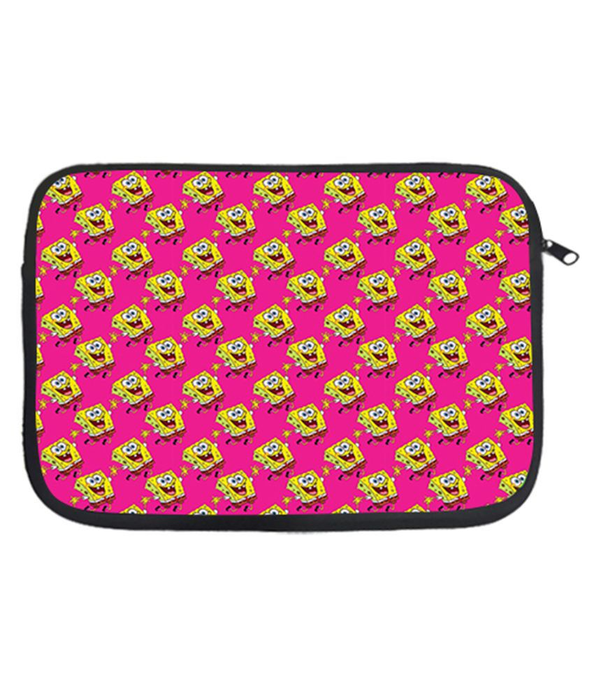 Design Worlds Pink Laptop Sleeve - Pink and Yellow