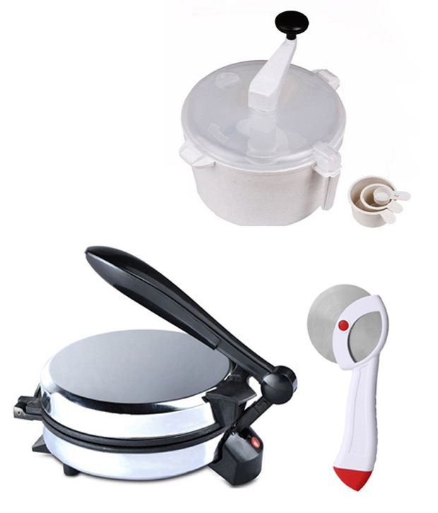 GTC Combo Of Eagle Detachable Rotimaker, Dough Maker And Pizza Cutter
